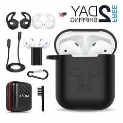Airpods Accessories Set, Filoto Airpods Waterproof Silicone