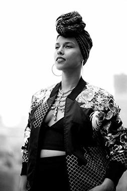 Alicia Keys Music Star Fabric Cloth Rolled Wall Poster Print