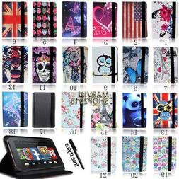 "For Amazon Kindle Fire 7"" 8"" 8.9"" 10"" Tablet - FOLIO LEATHER"
