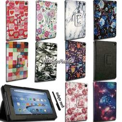 For Amazon Kindle Fire 7 / HD 8 / HD10 With Alexa Smart Leat