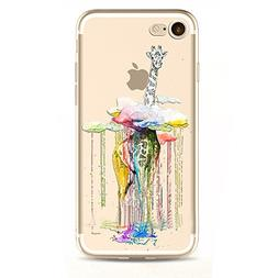 Animal Watercolor Painting ColorDrawing TPU Soft Waterproof