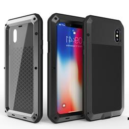 For iPhone 11 Pro Max 6S 7 8 Plus XR XS Metal Shockproof Hea