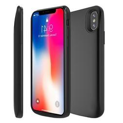 Apple iPhone X Battery Case 6000mAh Rechargeable Charger Por