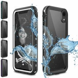 For Apple iPhone X XR XS Max Waterproof Case Cover w/ Built-