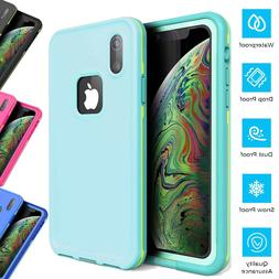For Apple iPhone XR Waterproof Case Xs Max Shockproof Built-