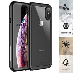 For Apple iPhone XR Xs Max Waterproof Case Cover with Built-