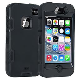 iPhone 4 Case,Apple iPhone 4 4S Case,Shockproof Heavy Duty C