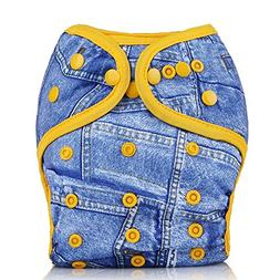 Mumsbest Baby Printed Cloth Diaper Cover for Prefolds One Si