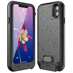 Battery Case for iPhone X/Xs, Eonfine Charger Case Waterproo