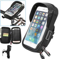 Bike Bicycle Front Handlebar Waterproof Phone Case Touch Scr