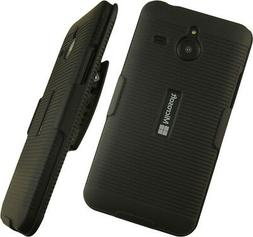 NAKEDCELLPHONE'S BLACK RIBBED RUBBERIZED HARD SHELL CASE COV