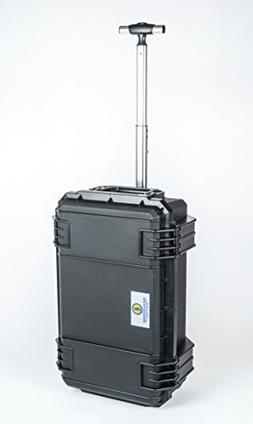 Black SE830 FAA Carry on approved travel case with wheels. C