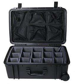 Black Seahorse SE920 case with padded dividers and Lid organ