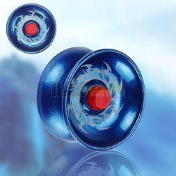 Blue Magical YoYo Aluminum Professional Yo-Yo Ball Trick All
