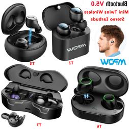 Mpow Bluetooth 5.0 TWS True Wireless Earbuds HD Stereo Sound