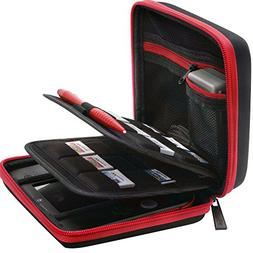 BRENDO Nintendo 2DS Hard Case with 24 Game Holders - Black /