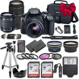 Canon EOS Rebel T6 DSLR Camera Bundle with Canon EF-S 18-55m