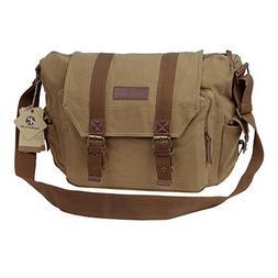d057d595990b Koolertron Canvas DSLR SLR Camera Shoulder Bag Backpack Ruck