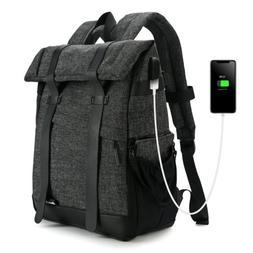 Koolertron Canvas DSLR SLR Camera Shoulder Bag Backpack Ruck