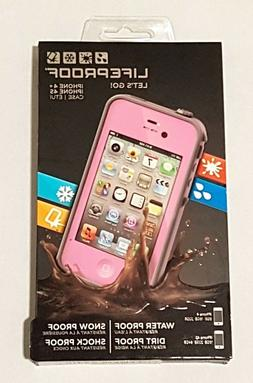 LifeProof Case for iPhone 4/4S - Retail Packaging - Pink