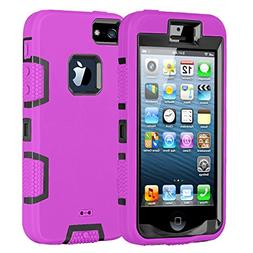 Case for iPhone 5,Shockproof Heavy Duty Combo Hybrid Defende