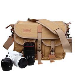 Zebella Casual Waterproof Canvas Shoulder Bag SLR DSLR Camer