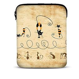 Boweike Cat Style Printed Case Pouch Soft Table Sleeve Bag f