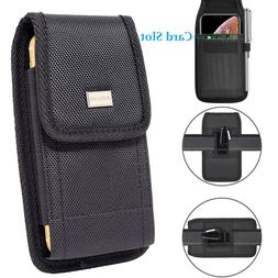 Cell Phone Holster Rugged Carrying Case Wallet Pouch w/ Meta