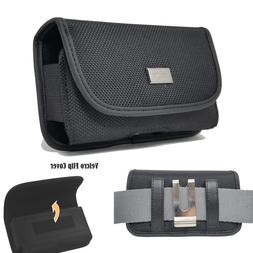 Cell Phone Sideways Pouch Tactical Holster Metal Belt Clip R