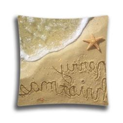 Christmas Decorative Pillow Cover-Merry Christmas at the bea