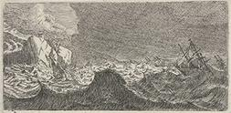 Classic Art Poster - Storm at sea, anonymous, 1650 - 1714 12