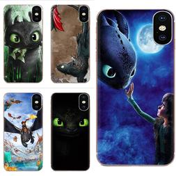 Coque Soft Phone Transparent Toothless For <font><b>Galaxy</