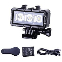 Suptig Diving Light High Power Dimmable Waterproof LED Video