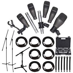 Samson DK707 7-Piece Drum Microphone Kit + Tripod Base Mic B