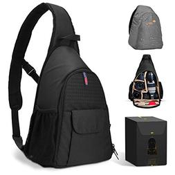 DSLR Camera Bag Waterproof Camera Sling Backpack with Rain C