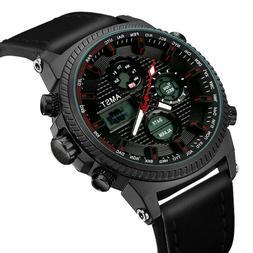 AMST Dual Display Military Sport Quartz Watch Man 50M Waterp