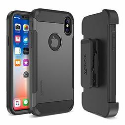 Trianium Duranium Holster Case Compatible with iPhone Xs & i