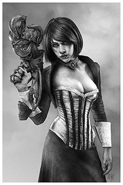 Elizabeth from Bioshock Infinite Giclee print from a pencil