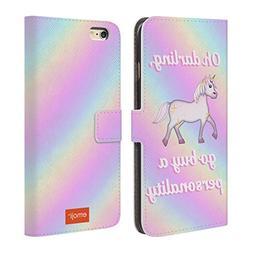 Official Emoji Darling Pastel Unicorns Leather Book Wallet C