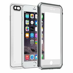 Eonfine Waterproof Case with Clear Back for iPhone 6/6s plus