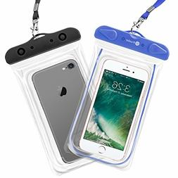 F-color Waterproof Case, 2 Pack Waterproof Phone Pouch Unive