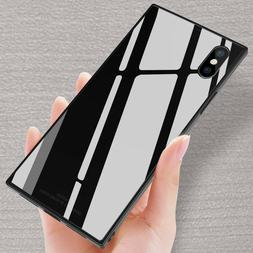 Fashion Square Tempered Glass Phone Case For iPhone 11 Pro M