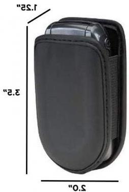 Flip Cell Phone Case Black Leather Cover Samsung Lg Pouch Ho