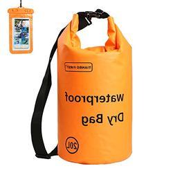 Floating Waterproof Roll Top Dry Bag 20L with Free Waterproo
