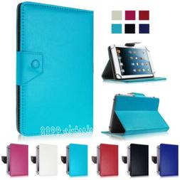"""Folio Leather Stand Cover Case For 7"""" 8"""" 10.1"""" Samsung Galax"""