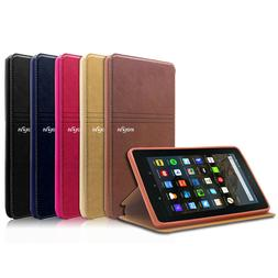 """Folio Magnetic Leather Cover Case For Amazon Kindle Fire 7"""""""