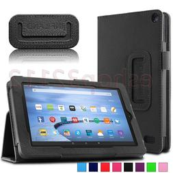Folio Stand Case Cover For Amazon Kindle Fire 7 5th Gen Tabl