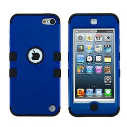 for iPod Touch 5th / 6th Gen -BLUE Shockproof Armor Hard&Sof