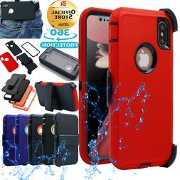 Fr iPhone X 6s 7 8 Plus Heavy Duty Shockproof Full-Body Case