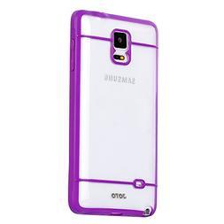 JOTO Galaxy Note 4 Case - Slim Fit Hybrid Bumper Cover Case